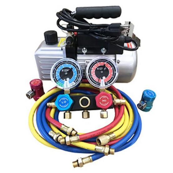 FJC 9281YF R1234yf Vacuum Pump & Gaugeset-2