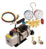 FJC 9281 Vacuum Pump And Brass Manifoldset-1