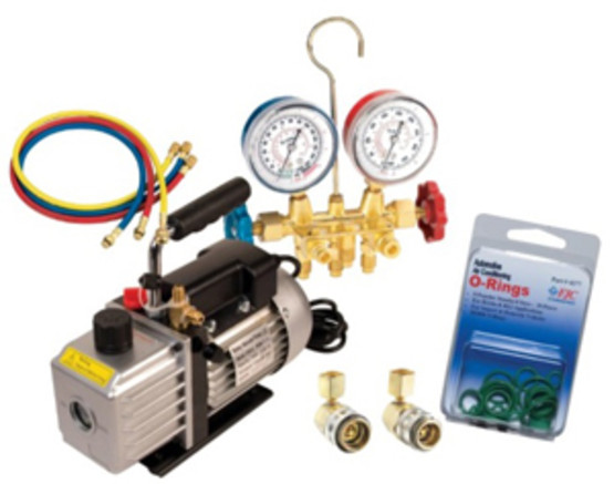 FJC 92821 5 Cfm Pump And Manifold Kit-1
