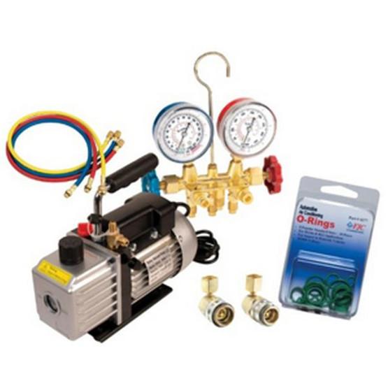 FJC 92821 5 Cfm Pump And Manifold Kit-2