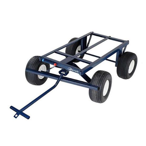 Jescraft FWT-3048-18 Four Wheel Utility Trailer - 30'' X 48'' - 18'' Pneumatic Tires-1
