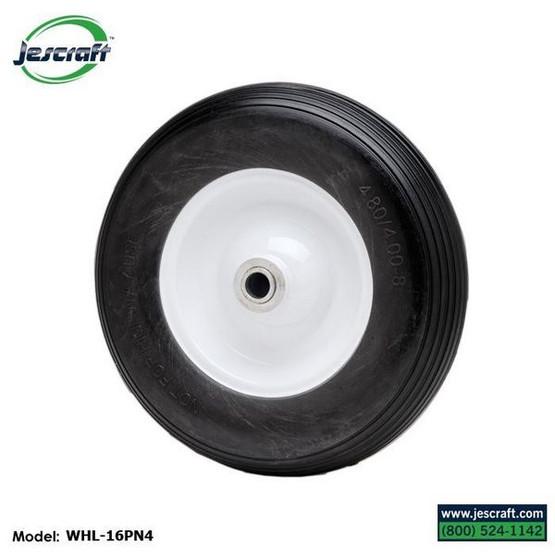 Jescraft FWT-3060-16 Four Wheel Utility Trailer Roofing Cart- 30 X 60 Deck W 16 Pneumatic Tires (1000# Cap.)-2