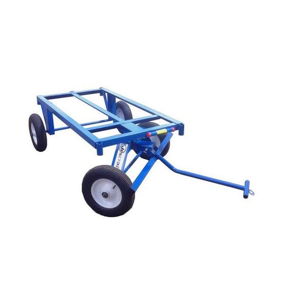 Jescraft FWT-3072-16FF Four Wheel Utility Trailer Roofing Cart - 30 X 72 Deck W 16 Flat Free Tires (1000# Cap.)-1