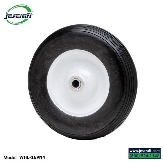 Jescraft FWT-3072-16FF Four Wheel Utility Trailer Roofing Cart - 30 X 72 Deck W 16 Flat Free Tires (1000# Cap.)-2