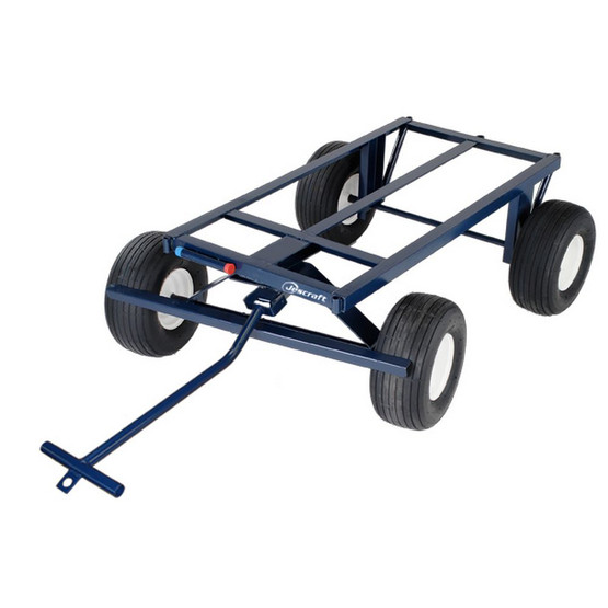 Jescraft FWT-3072-18FF Four Wheel Utility Trailer Roofing Cart- 30 X 72 Deck W 18 Flat Free Tires (2000# Cap.)-1