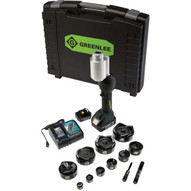 Greenlee LS100X11SB4 Intelli-punch&#0153 11-ton Tool With Slugbuster&#174 Knockouts 12-4-1