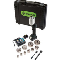 Greenlee LS100X11SBSP4 Intelli-punch&#0153 11-ton Tool With Slugbuster&#174 Speedpunch� Knockouts 12-4-1