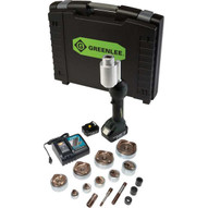 Greenlee LS100X11SS4 Intelli-punch&#0153 11-ton Tool With Slugsplitter� Knockouts 12-4-1