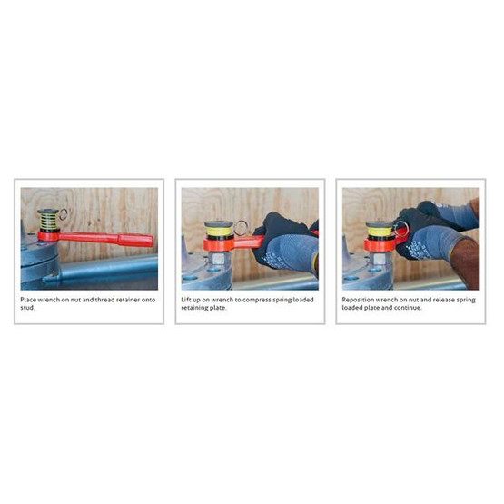 Gearench HTS200 Petol Hammertight Wrench To Hold Striking Wrenches On Flange Fits Stud Size: 2 - 8-2