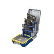 Irwin Hanson 3018003 29 Piece Titanium Nitride Drill Bit Set-1