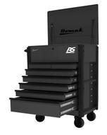 Homak Mfg BK06035247 35 7 Drawer Hd Flip Topservice Cart-black-1