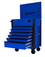 Homak Mfg BL06035247 35 7 Drawer Hd Flip Topservice Cart-blue-1