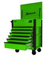 Homak Mfg LG06035247 35 7 Drawer Hd Flip Topservice Cart-lime Green-1