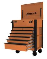 Homak Mfg OG06035247 35 7 Drawer Hd Flip Topservice Cart-orange-1