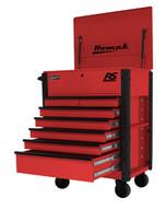 Homak Mfg RD06035247 35 7 Drawer Hd Flip Topservice Cart-red-1