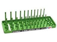 Hansen Global Inc. HR14033 Xgreen 14 Dr. Sae 3 Rowmulti Length Socket Holder-1