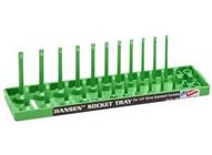 Hansen Global Inc. 1403 14 Dr. Green Sae Deep &regular Socket Holders-1
