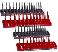 Hansen Global Inc. 92003 Redgrey 4 Pack 3 Row Socketholders 14 And 38 Drives-1