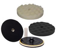 Hi-tech Industries BK-3W Hi-buff Foam Pad Kit Withvelcro Backing Pad-1