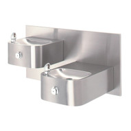 Haws 1119 Hi-lo Barrier Free Drinking Fountain Stainless Steel-1