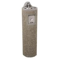 Haws 3060 Round Concrete Drinking Fountain Aggregate Finish-1