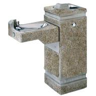 Haws 3150 Hi-lo Barrier Free Concrete Pedestal Drinking Fountain Aggregate Finish-1