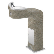 Haws 3177fr Freeze Resistant Barrier Free Concrete Pedestal Drinking Fountain Aggregate Finish-1