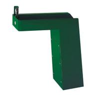 Haws 3202 Barrier Free Galvanized Steel Pedestal Drinking Fountain Green Powder Coated-1