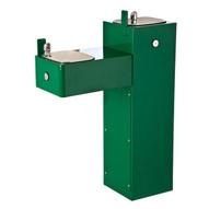 Haws 3300 Hi-lo Two Bubbler Galvanized Steel Pedestal Drinking Fountain Green Powder Coated-1