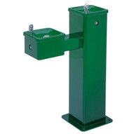 Haws 3500fr Freeze Resistant Hi-lo Barrier Free Pedestal Drinking Fountain Green Powder Coated Finish-1