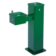 Haws 3500 Hi-lo Barrier Free Stainless Steel Pedestal Drinking Fountain Green Powder Coated Finish-1