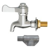 Haws 6250lf Self Closing Plain End Lead Free Brass Bib Faucet Chrome Plated Finish-1