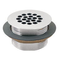 Haws 6463 Vandal Resistant Waste Strainer With Anti-airlock Draining Feature Chrome Plate Brass-1