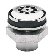 Haws 6466 Vandal Resistant Waste Strainer And Tailpiece Assembly That Allows For Top Down Access Chrome Plated Brass-1