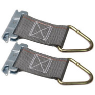 Kinedyne 660001-2PK 6 Series Ea Rope Tie-off With 2 Webbing And 1027 D-ring 2-pack-1