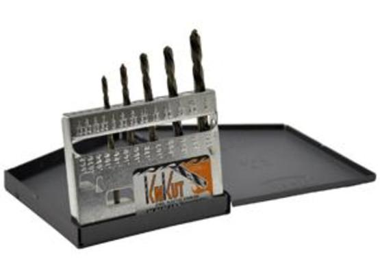 Knkut 5KK6 5 Piece Left Hand Jobberlength Drill Bit Set-1