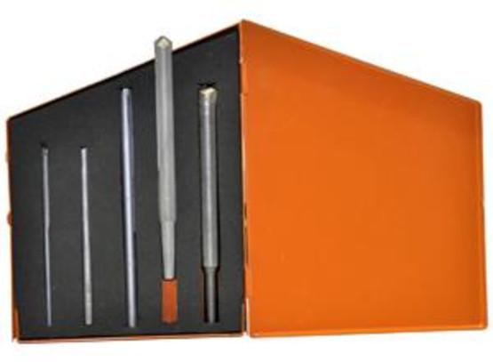 Knkut 5KK9-LH 5 Piece Lh Carbide Tipped Hardsteel Left Hand Drill Bit Set-1