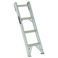 Louisville Ladder AH1004 4 Ft Aluminum Shelf Ladder Cap: 300 Lbs Type Ia-1