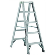 Louisville Ladder AM1005 5 Ft Aluminum Twin Front Step Ladders Cap: 300 Lbs Type Ia-1