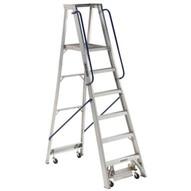 Louisville Ladder AP5006 6 Ft Mobile Aluminum Platform Ladder Cap: 300 Lbs Type Ia-1