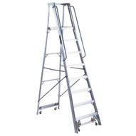 Louisville Ladder AP5008 8 Ft Mobile Aluminum Platform Ladder Cap: 300 Lbs Type Ia-1