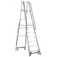 Louisville Ladder AP5010 10 Ft Mobile Aluminum Platform Ladder Cap: 300 Lbs Type Ia-1