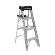 Louisville Ladder AS3004 4 Ft Aluminum Standard Ladder Cap: 300 Lbs Type Ia-1