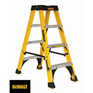 DeWalt DXL3030-04 4 Ft Fiberglass Twin Front Ladder Cap: 300 Lbs Type Ia-1