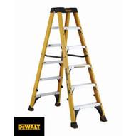 DeWalt DXL3030-06 6 Ft Fiberglass Twin Front Ladder Cap: 300 Lbs Type Ia-1