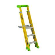 Louisville Ladder FCP1403HD 3' FG Cross Pinnacle 2-in-1 Platform Ladder Type IAA 375b Rated-1