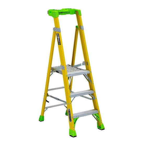 Louisville Ladder FCP1403HD 3' FG Cross Pinnacle 2-in-1 Platform Ladder Type IAA 375b Rated-2