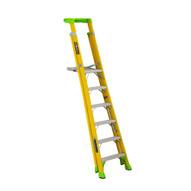 Louisville Ladder FCP1406HD 6' FG Cross Pinnacle 2-in-1 Platform Ladder Type IAA 375b Rated-1