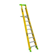 Louisville Ladder FCP1406HD 8' FG Cross Pinnacle 2-in-1 Platform Ladder Type IAA 375b Rated-2