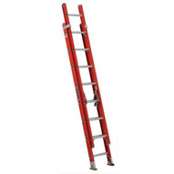 Louisville Ladder FE3216 16 Ft Fiberglass Multi-section Rope & Pulley Not Included Cap: 300 Lbs Type Ia-1